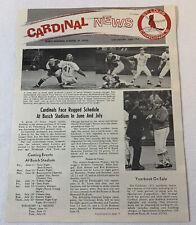 June 1971 ST LOUIS CARDINALS Cardinal News newsletter