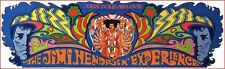 "Jimi Hendrix Woodstock Guitarist Psychedelic Poster Axis: Bold As Love 8.5""X26""!"