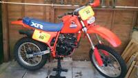HONDA XR XL XR200 XR250 1984 1985 (other models, years) backgrounds decals