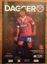 Dagenham v Hartlepool United - League 2 Programme - 17th October 2015 - Mint
