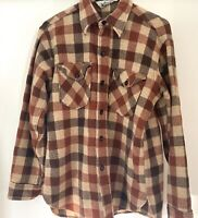 Vintage Woolrich Heavy Wool Plaid Flannel Mens M  Jacket Shirt Hunting