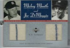 2001 UD PINSTRIPE EXCLUSIVE MICKEY MANTLE-JOE DiMAGGIO 14/50