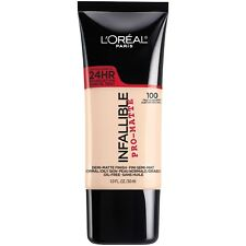 LOREAL Infallible Pro Matte Demi Matte Finish Foundation, TRUE ALABASTER 100 NEW