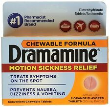 Dramamine Motion Sickness 8-Chewable Orange Tablets