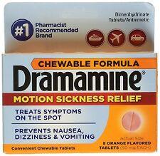 Dramamine Motion Sickness Chewable Orange Tablets 8ct