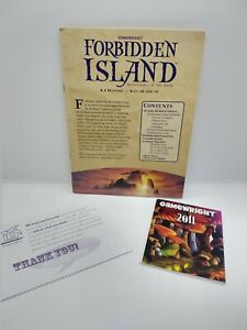 Forbidden Island Replacement instructions rulebook and paper inserts