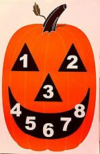 Pumpkin Silhouette Shooting Target Game Pistol Rifle 23x35 Qty. 10, Limited Ed.