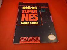 Official Super NES Game Guide Super Nintendo SNES Information Book