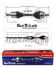 Volvo S60 V70 AWD 02-09 Pair of Front CV Axle Shaft Assemblies SurTrack Set