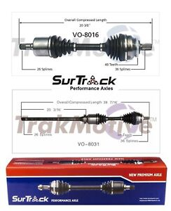 For Volvo S60 V70 AWD 02-09 Pair of Front CV Axle Shaft Assemblies SurTrack Set