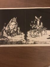 Tri Chem Picture Set to Paint Liquid Embroidery Velveteen Forest Fox Deer 7222