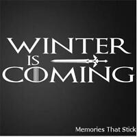 WINTER IS COMING Funny Car Window Bumper GAME OF THRONES Vinyl Decal Sticker