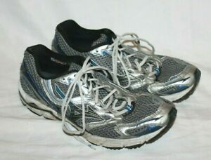 Mizuno Wave Rider 13 Running Mens Shoes 8KN-00227 Silver/Black/Blue Size 11 Hike
