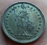 Suisse . Helvetia 2 Francs 1905 Argent/silver