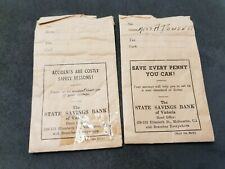 WW2 WAR BONDS STATE SAVINGS BANK VICTORIA PAY PACKETS 1940s LOT OF 2