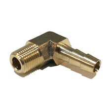 1/4 HOSE BARB ELBOW X 1/8 MALE NPT Brass Pipe Fitting Thread Gas Fuel Water Air