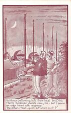 POSTCARD   COMIC    NORFOLK  BROAD SMILES  The   drunken  yachtsman...