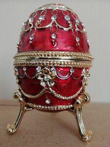 """Faberge Ei """"Rote Lupine"""" mit Spieluhr. Auflage: Schätze aus der Zarenzeit."""