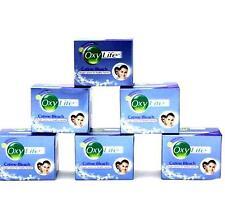 6 x 9g Dabur Oxylife Cream Bleach Skin Lightening Ammonia Free Bleach Free Ship