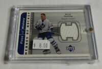 BORJE SALMING - 2002 UD HEROES OF HOCKEY - PIECE OF HISTORY - JERSEY -