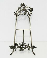 ART NOUVEAU STYLE SOLID BRASS EASEL PICTURE PLATE HUGE STAND