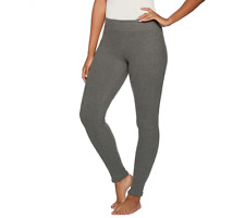 Cuddl Duds Fleecewear Stretch Leggings Size L BLACK FLORAL Color