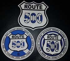 """The iconic Route 500 3.5"""" die cut stickers, set of 3"""