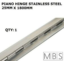 1 x 25mm Open Width Piano Continuous Hinge - Stainless Steel 1800mm Trailer DIY