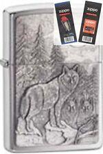 Zippo 20855 timberwolves Lighter with *FLINT & WICK GIFT SET*
