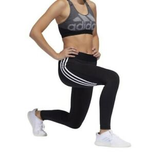ADIDAS Womens Alphaskin 3-Stripes Leggings M 12/14