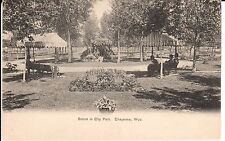 Early 1900's A Scene in City Park in Cheyenne, WY Wyoming PC