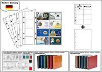 1 LOOK 1-7404-W Münzhüllen PREMIUM 8x  93x56 mm + weiße ZWL Für Coin Cards