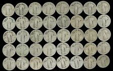 NO DATE STANDING LIBERTY QUARTER FULL ROLL 40 SILVER COINS