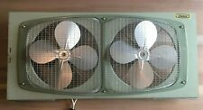 """Vintage Marvin model 210 Dual 13"""" Metal Window Electric Screen Fan *Works*"""