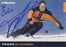 Autogrammkarte: Franz Klammer - signiert