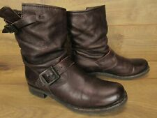 FRYE Brown Leather Veronica Short Womens Boots Size 8 B