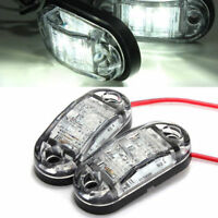 Bright White 12V 2LED Side Marker Clearance Light Lamp Car Truck Trailer Caravan