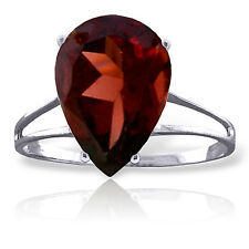 5 CTW Platinum Plated 925 Sterling Silver Sensuality Garnet Ring