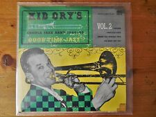 """1953 Jazz 7"""" EP KID ORY'S CREOLE JAZZ BAND 1944-45 Vol 2 -Red wax *LISTEN"""