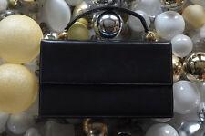Novabell Tasche Handtasche Damenhandtasche schwarz Leder bag True VINTAGE 60er