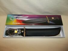 NEW IN BOX FROST CUTLERY QUICKSILVER BOWIE KNIFE WITH SHEATH QS-578RUB/B BLACK