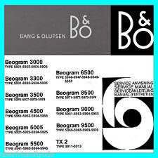 Bang & Olufsen B&O SERVICE MANUALS Schematics & Owners Manual BIGGEST SET CD