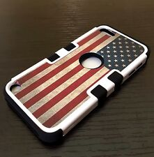 iPod Touch 5th & 6th Gen - HYBRID HIGH IMPACT ARMOR CASE COVER USA AMERICAN FLAG