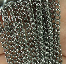 GNAYY 5meter stainless steel Fashion 4mm Cowboys chain Jewelry Finding Chain DIY