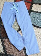 Best Medical Unisex Reversible Drawstring Scrub Pant W/ Pocket Ceil Blue Sz XS
