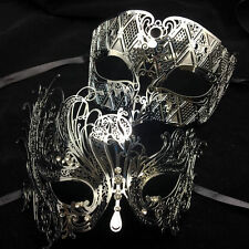 Hot Seller Silver Metal Couple Lover Masquerade Mask Party Mask Men & Women Mask