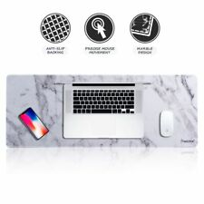 """Non-Slip XXL 31.5"""" x 12"""" Marble Mouse Pad Keyboard Gaming Computer PC Desk Mat"""