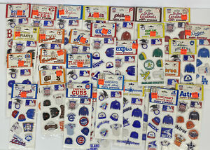 Vintage Sports Puffy Stickers MLB Baseball NL 1980s 1983 Lot Of 28 - New Sealed
