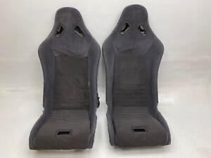 GENUINE LOTUS ELISE EXIGE CLOTH BUCKET SEATS S1 WITH HARNESS HOLES MX5 VX220