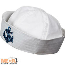 Sailor Doughboy Hat Adults Fancy Dress Marine Navy Mens Ladies Costume Accessory